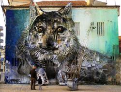 Ditangan Seniman Portugis Ini Sampah Nggak Berguna Disulap Jadi Karya Menakjubkan