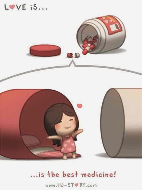 Cinta itu obat paling mujarab disaat kamu sedang bersedih.