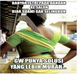 10 Meme Gokil Reaksi Istri Saat Diduakan Sang Suami, Jangan Coba-Coba Deh !