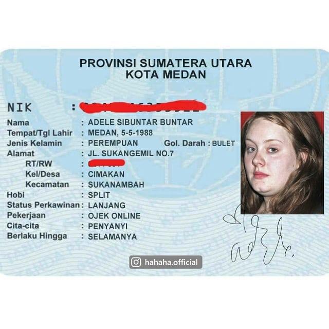 Adele ternyata orang Medan nih gengs, nggak nyangka banget deh.