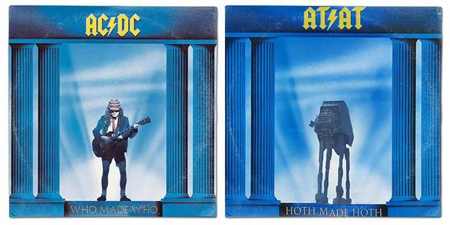 Angus Young yang digantikan oleh sosok robot. Lebih keren mana menurutmu Pulsker, versi asli atau versi Star Wars ini?.
