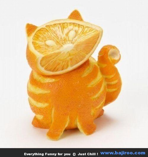 Siapa sangka kalau buah jeruk biasa jadi unyu ditangan orang kreatif.