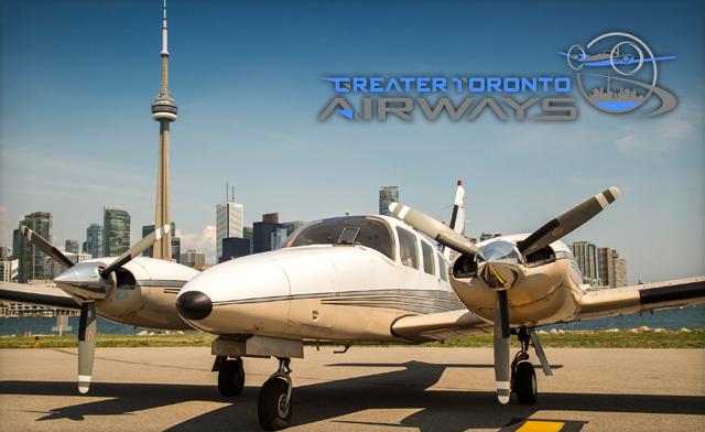 Greater Toronto Airways yang melayani penerbangan dari Toronto ke Niagara Falls Airport dua kali sehari ini memakan waktu 12 menit saja dalam sekali terbang Pulsker.