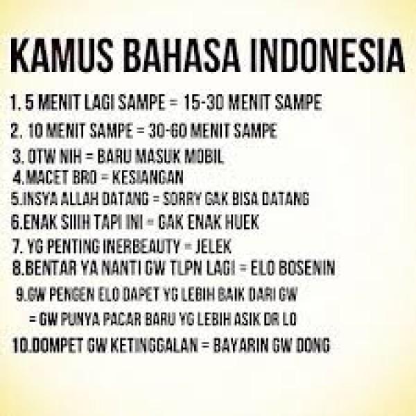 Kamus bahasa Indonesia tentang OTW. Bener banget nih!