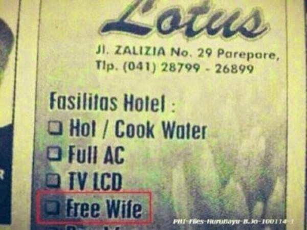 Bahaya juga nginep di hotel ini, pulang-pulang pulang gratis istri.