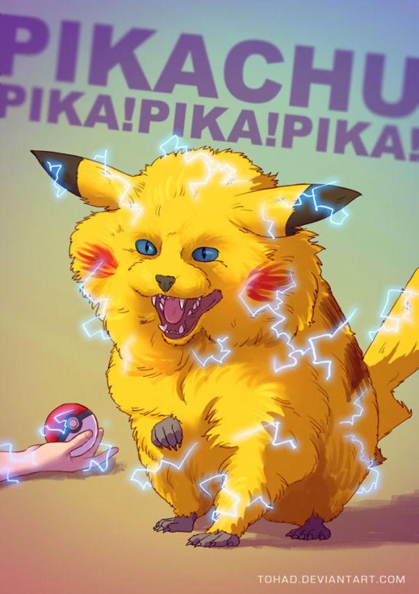 Ada yang berani mendekat kalau si Pikachu berubah jadi gini?.