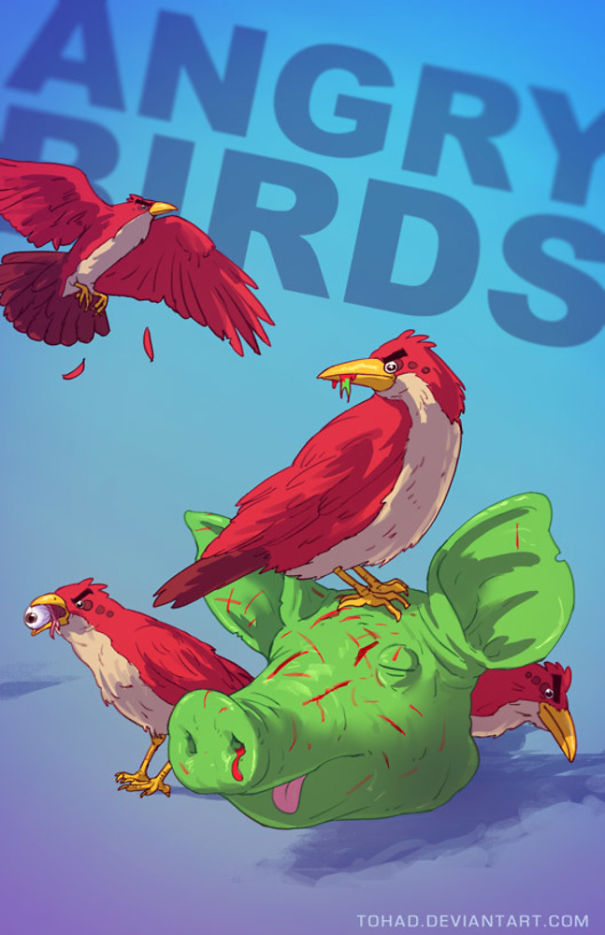 Wah, sekumpulan burung-burung ini nampaknya sedang marah beneran gengs.