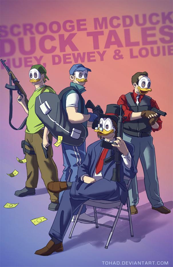 Ternyata kartun Donald Bebek menginspirasi para perampok ini Pulsker.