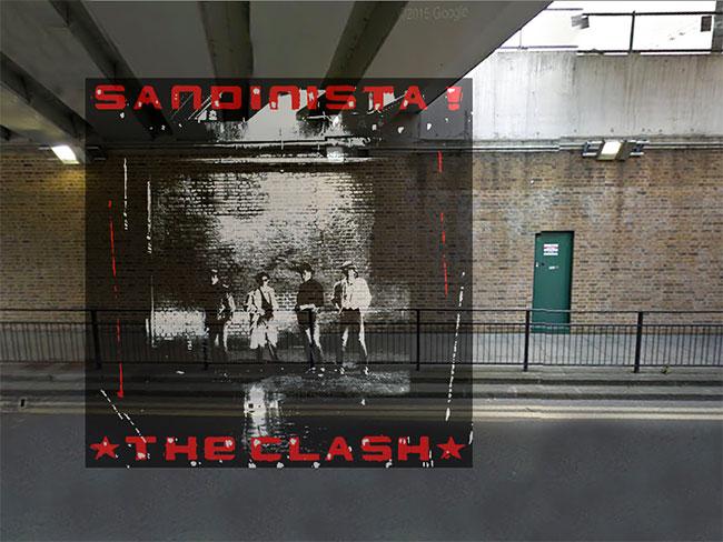 Album 'Sandinista' dari band punk legendaris The Clash diambil dibawah jalur rel kereta api stasiun St.Pancras, London.