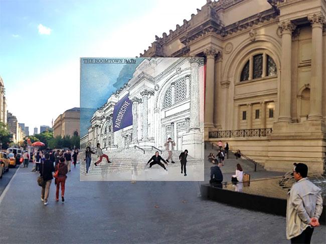 Di cover albumnya The Boomtown Rats gambarnya nampak seperti gambar, dan inilah gedung aslinya Pulsker.