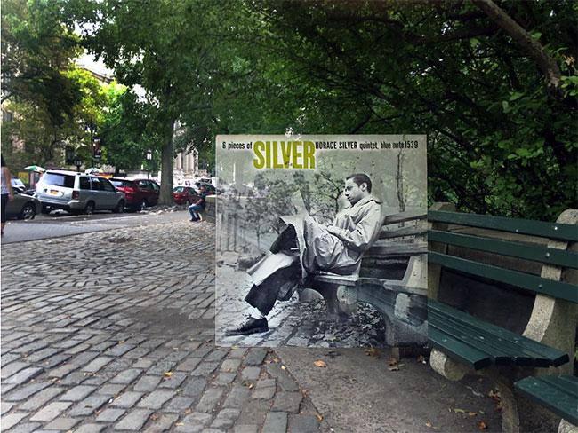 Album Horace Silver yang difoto di taman Central Park West kursinya juga masih ada sampai sekarang.