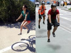 10 Foto Editan Kocak 'Sepeda Tak Kasat Mata'