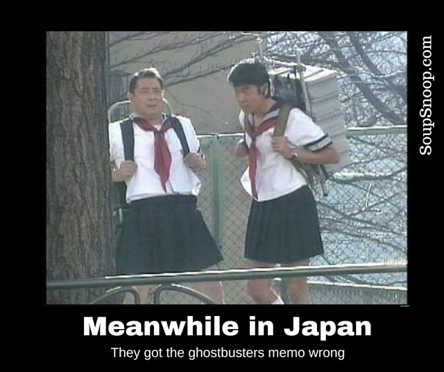 Cuma di Jepang kamu bisa melihat para bapak-bapak berpakaian seperti Sizuka.