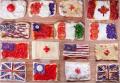 Kreatif, Makanan Ini Disulap Jadi Gambar Bendera Negara-negara di Dunia