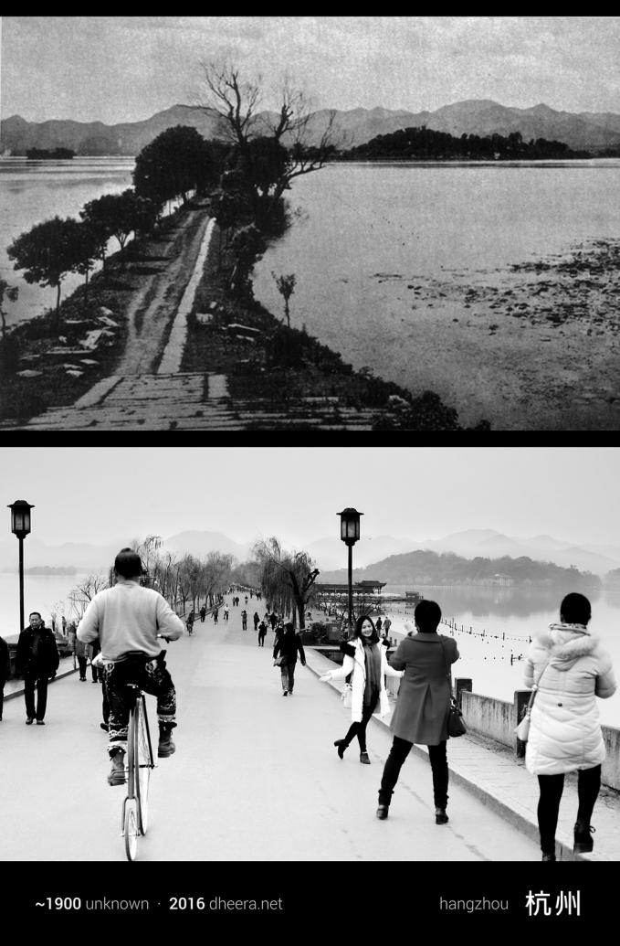 Pada tahun 1900-an, Hangzhou hanyalah kota kecil biasa. Kini menjelma jadi kawasan indah yang banyak dikunjungi wisatawan.