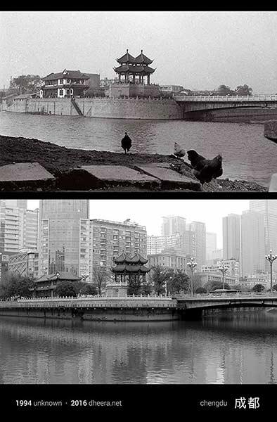 Kota Chengdu pun terlihat makin rapi dibandingkan tahun 1944 silam. Nah, dari foto tersebut kita bisa melihat Pulsker kalau perubahan untuk menjadi sebuah negara yang besar tidaklah secara instan. Melainkan dibangun perlahan dari tahun ke tahun dengan rencana yang matang. (Sumber : Wittyfeed, Dheera.net)