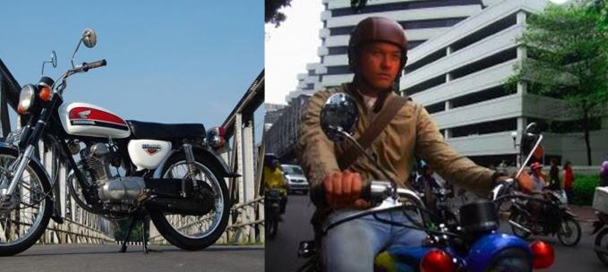 Motor CB juga pernah digunakan di Nicholas Saputra dalam film Janji Joni yang pernah tayang tahun 2005 arahan sutradara Joko Anwar.