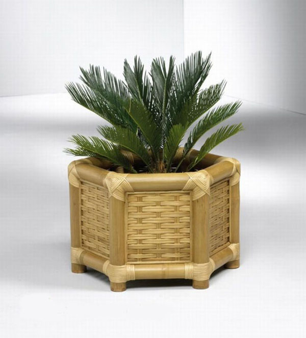 Buat kalian yang suka tanaman hias, pot dari bambu ini bakalan mempercantik tanaman hias dirumah lho.