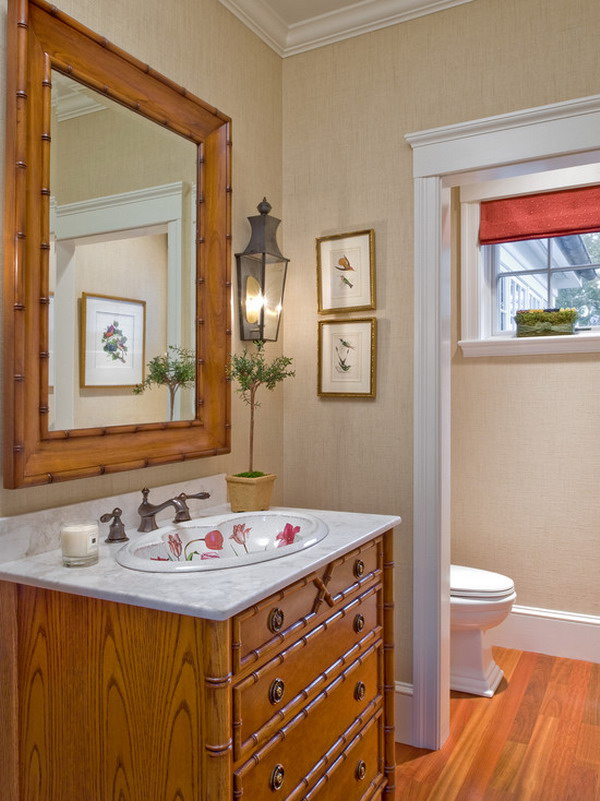 Nggak hanya urusan ruang keluarga dan kamar tidur aja Pulsker, bahkan bisa juga dipasang di kamar mandi.