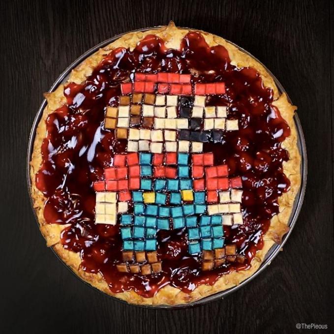Coba amati lagi gengs, pie ini gambarnya menyerupai sosok Mario Bros.