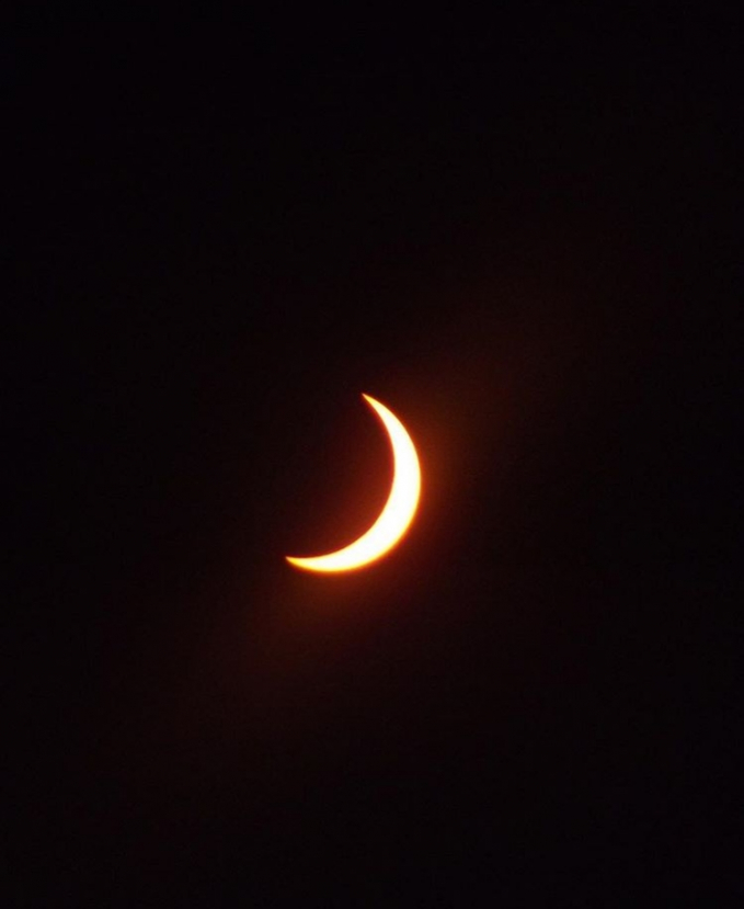 Ini adalah detik-detik sebelum terjadinya gerhana matahari.