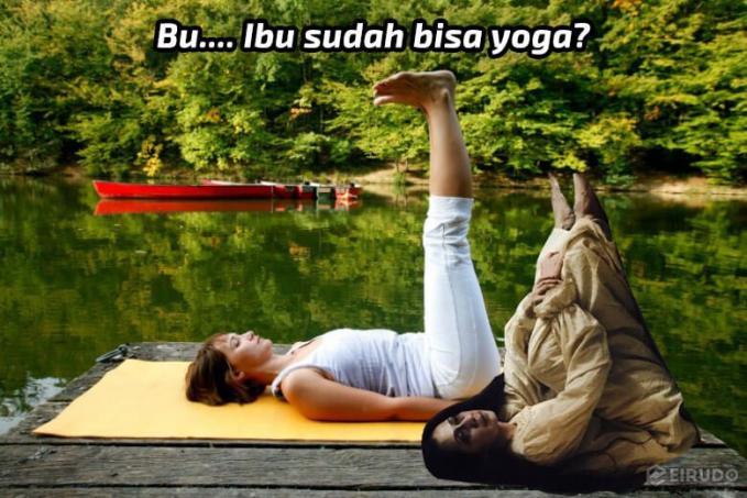 Walaupun hantu si ibu tetap bisa yoga lho gaes. Nah, itu dia beberapa meme lucu hantu Indonesia. Jadi gagal serem deh gengs.