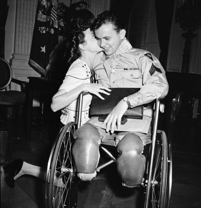 Seorang tentara Amerika Serikat bernama Ralph Neppel harus kehilangan kedua kakinya saat pulang kerumah kembali. Dan tunangannya Jean Moore tetap menerima Ralph apa adanya serta memberi semangat dengan sebuah ciuman.