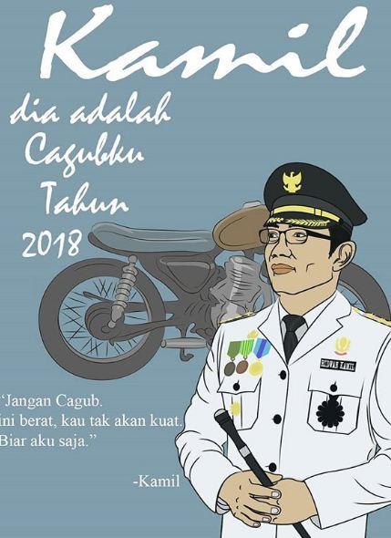 Wah, Kang Emil walikota Bandung juga nggak mau kalah eksis nih Pulsker.
