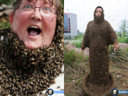 Aksi Berbahaya Manusia Lebah yang Bikin Bulu Kuduk Berdiri, Jangan Coba Tiru !
