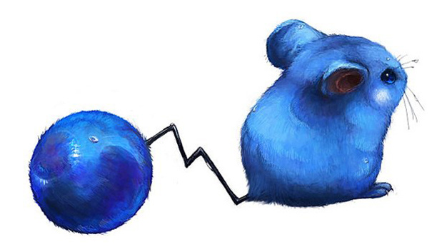 Kalau tadi Pikachu tikus berwarna kuning, lain halnya dengan Azuril yang berwarna biru.