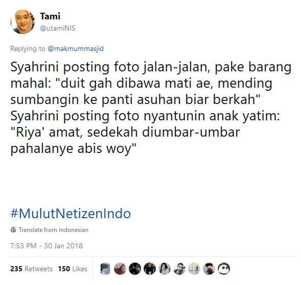 Kadang emang jadi artis itu serba salah Dimata netizen.