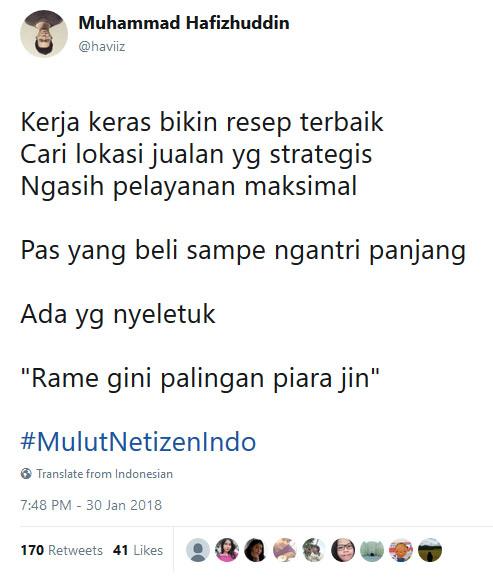 Maha benar netizen.