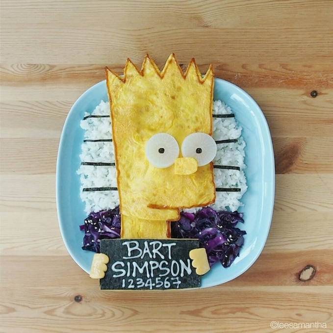 Roti tawar pun bisa jadi karakter Bart Simpsons lho gengs.
