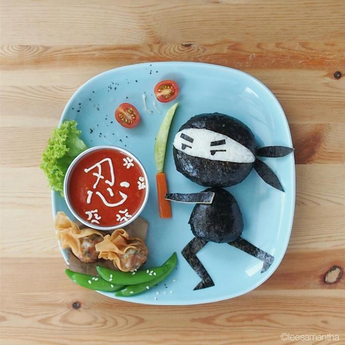 Kalau nggak dimakan si ninjanya bisa marah tuh gengs. Hmm, saking keren dan uniknya malah jadi sayang ya buat dimakan.