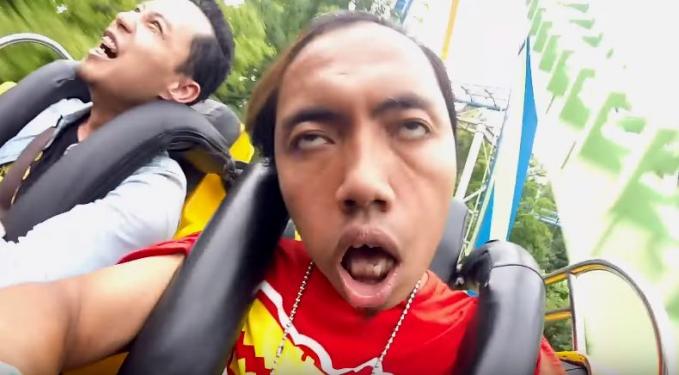 Ini ekspresi Bajindul, vlogger Indonesia yang bekerja di Korea Selatan. Lucu banget ya?