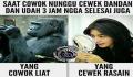 8 Meme Nungguin Cewek Dandan, Bisa Sambil Ngitung Biji Beras Sekarung Nih !