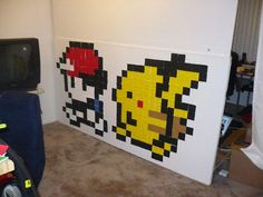 Gambar Pikachu membuat ruangan makin hidup dan unik Pulsker.