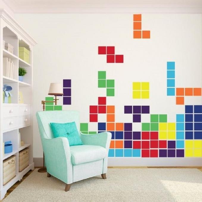 Bangkitkan nostalgia anak 90-an dengan pola tetris berwarna-warni keren dirumah.