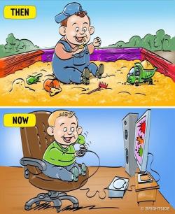 7 Ilustrasi Perbandingan Kehidupan Kids Jaman Old vs Kids Jaman Now