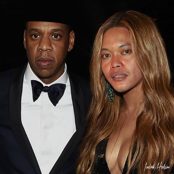 Hayoloh, wajahnya Beyonce kok tiba-tiba mirip Kang Sule ya? Jangan-jangan foto ini cuma editan?!