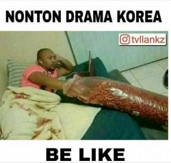 Suka Drama Korea? 7 Meme Kocak 'Nonton Drama Korea' Ini Bikin Suasana Makin Seru