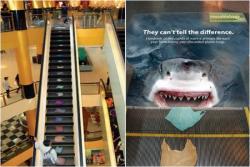 Beda dari Biasanya, Seperti Ini Tampilan Eskalator Unik yang Ada di Pusat Perbelanjaan