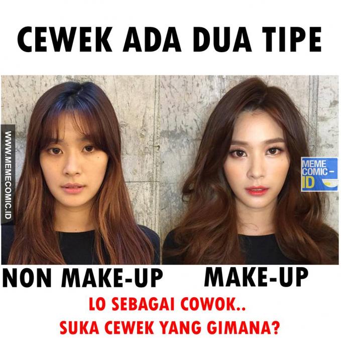 Pilih yang cantik natural atau makin mempesona dengan polesan make up?.