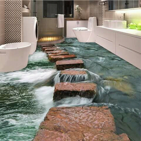 Makin berasa alami lagi kalau ada latar suara gemericik air.