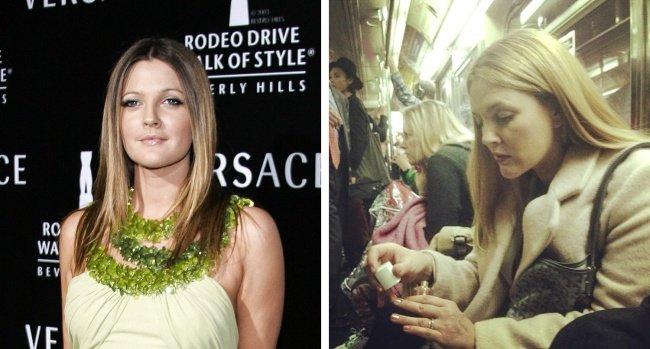 Salah satu member dari Charlies Angels, Drew Barrymore, beberapa kali tertangkap kamera sedang melakukan perjalanan menggunakan kendaraan umum.