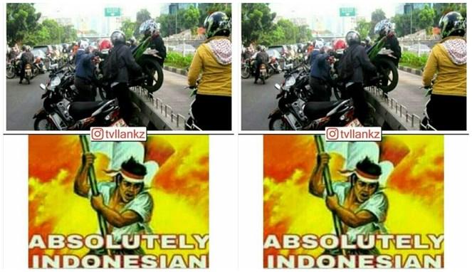 Potret pelanggar lalu lintas yang cuma ada di Indonesia.