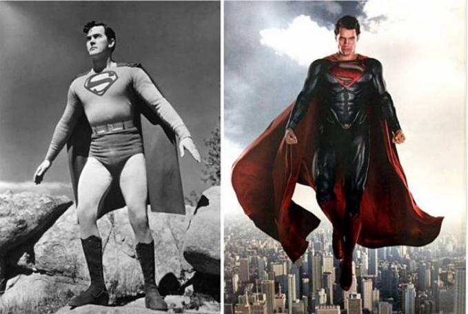 Superman Kalau melihat Superman jaman dulu, kamu pasti menutup mata, karena dia memakai celana dalam di luar..hihihi