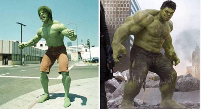 Hulk Hulk jaman dulu yang lebih mirip dengan Kolor Ijo..aww.