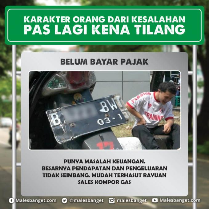 Kalau pas gajian sisihkan uang kita untuk membayar pajak kendaraan bermotor. Jangan telat dan jadilah warga negara yang baik dengan membayar pajak ya sob.