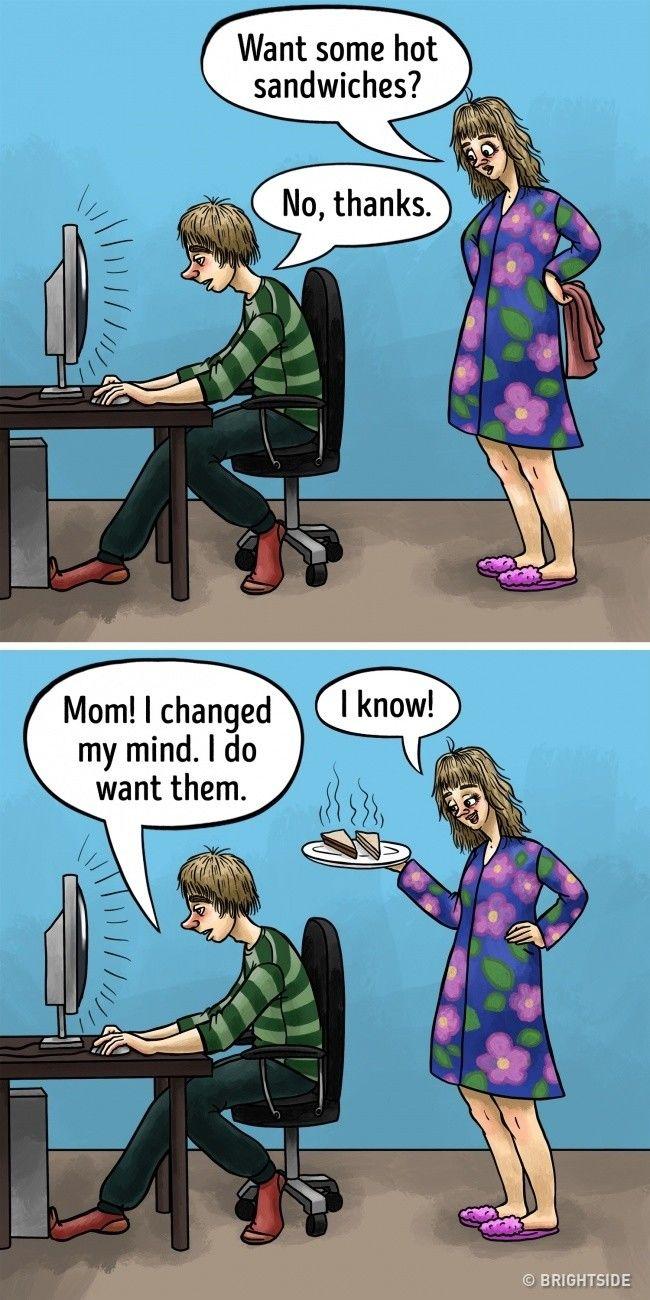Ibu yang merawat kita sejak kecil pasti tahu keinginanmu sebelum kamu mengatakannya.